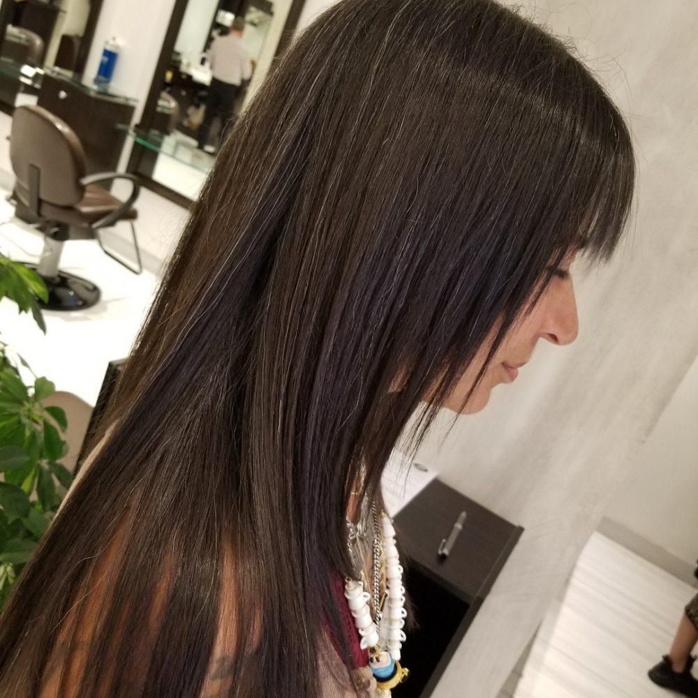 Long and Sleek Shag hairstyle