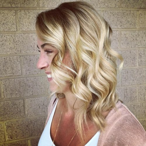 Long Bob with Waves hairstyle