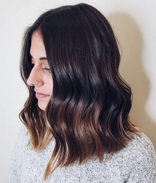 A longer shoulder length hair