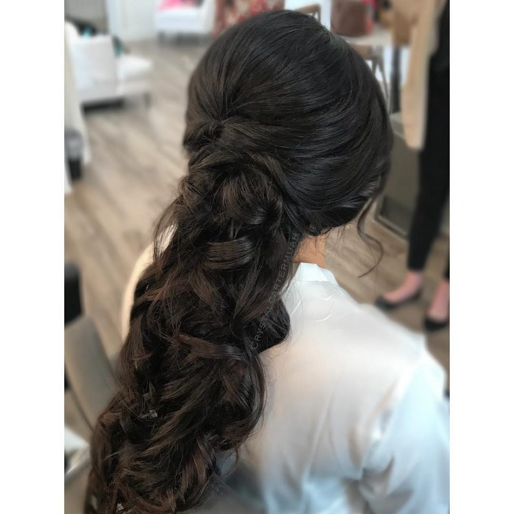 Loose Bridal Updo hairstyle