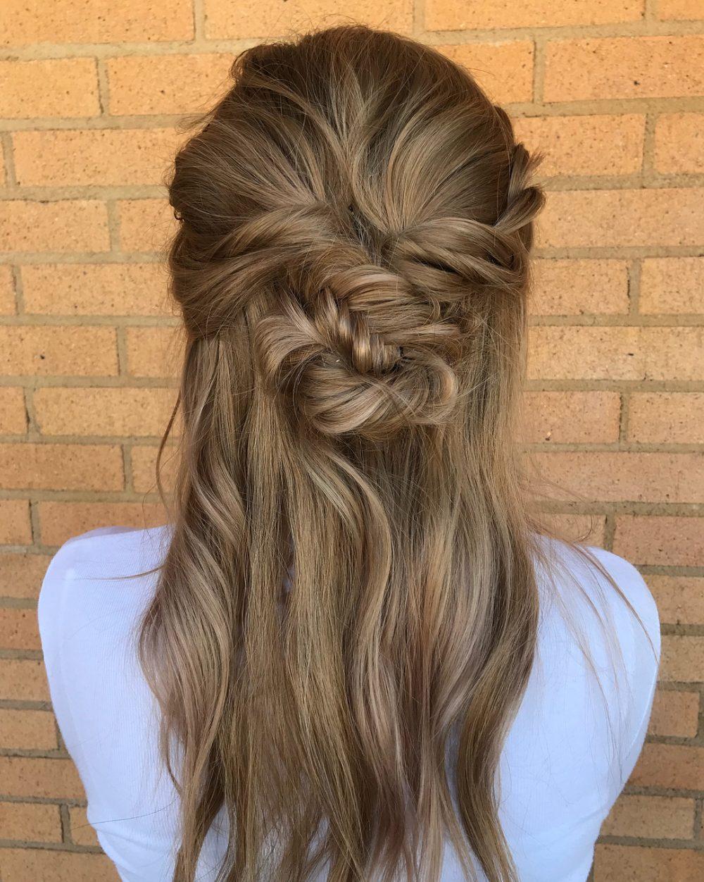 Loose Fishtail Bun hairstyle