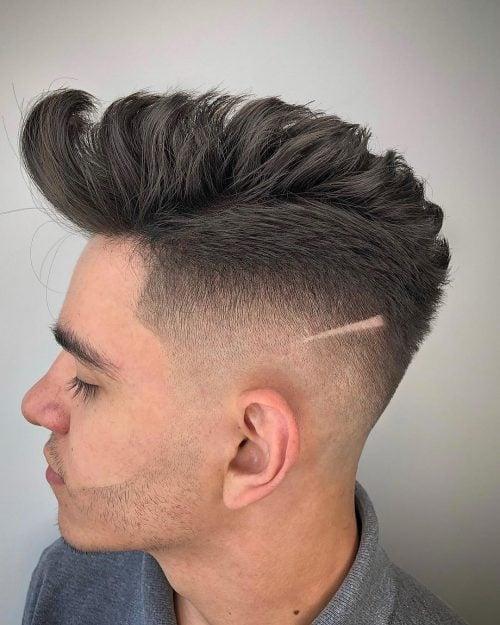 Loose Pomp Fade para el peinado de los hombres
