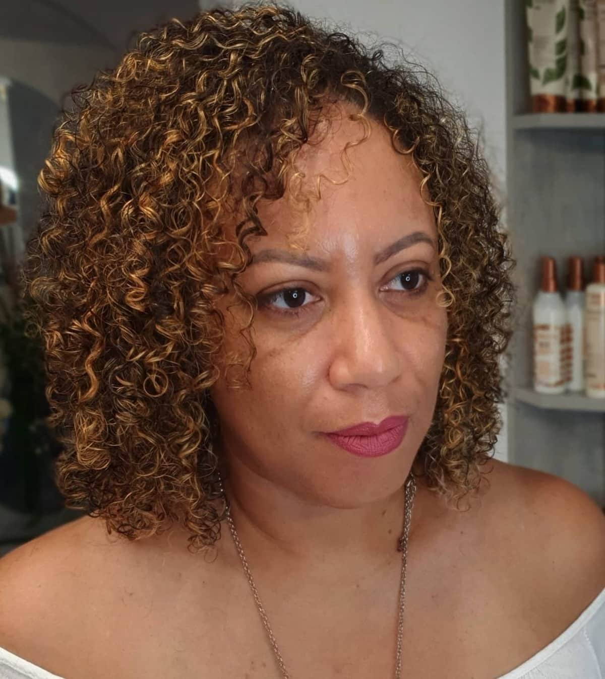 Rizos sueltos para cabello afroamericano natural