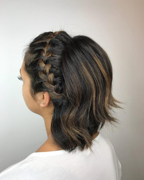 Lovely Crown Braids for Short Hair