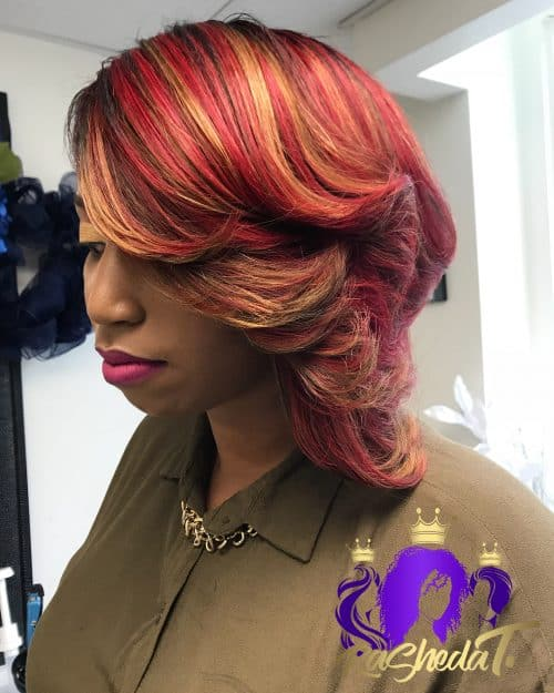 Lovely Feathered Bob for Layered Hair
