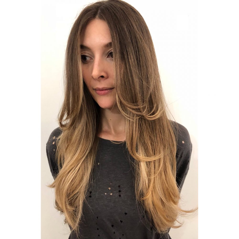 Lovely Middle Part Layers hairstyle