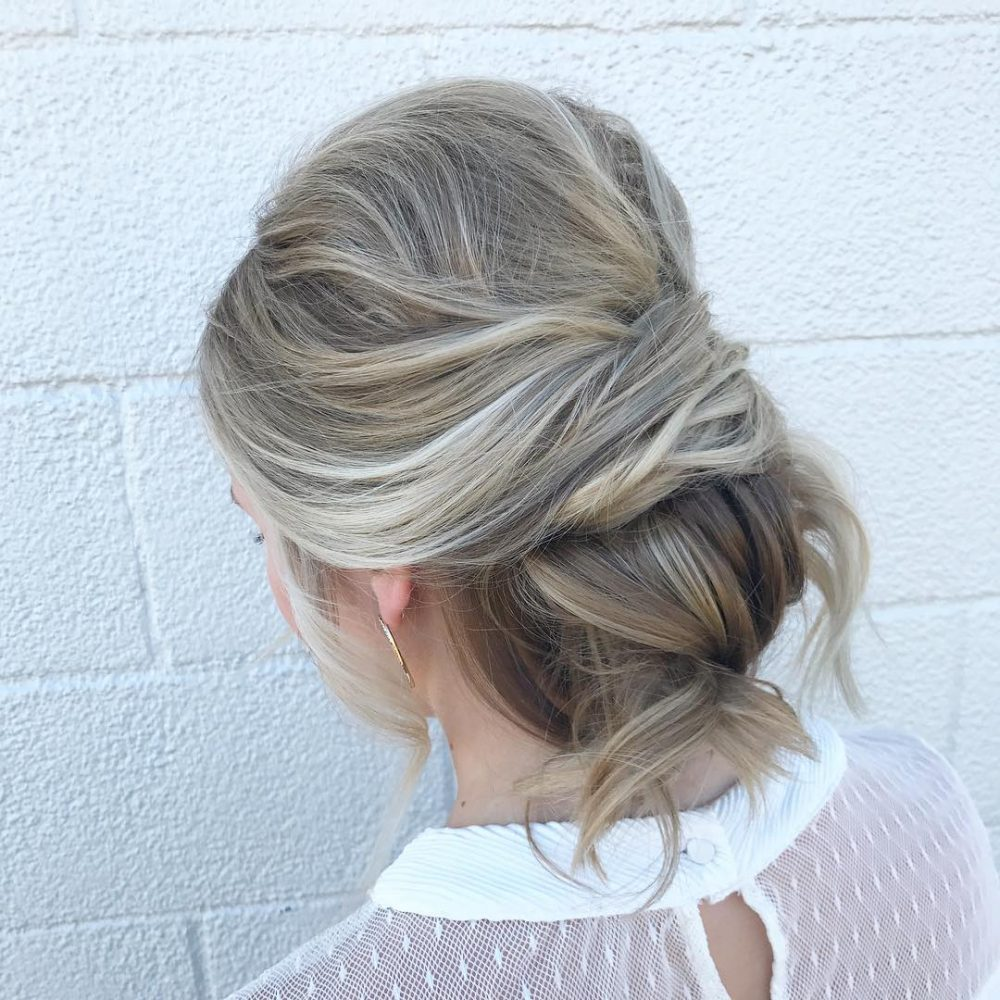 low bun hair styles 32 amp easy updos for hair you to see for 2018 1699