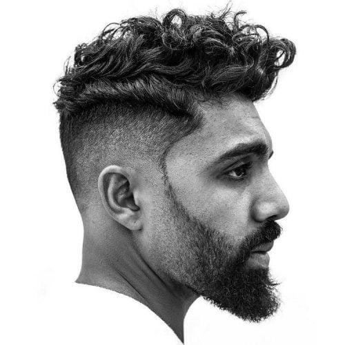 Low fade faux hawk haircut