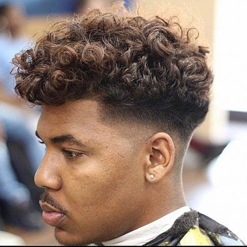 desvanecimiento bajo para cabello rizado