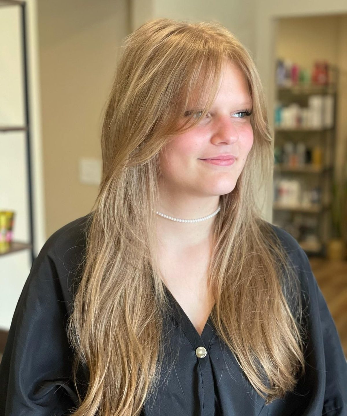 Low-maintenance Layered Haircut with Curtain Bangs