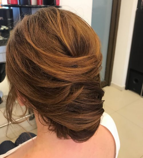 Picture of a magical upstyle simple updo