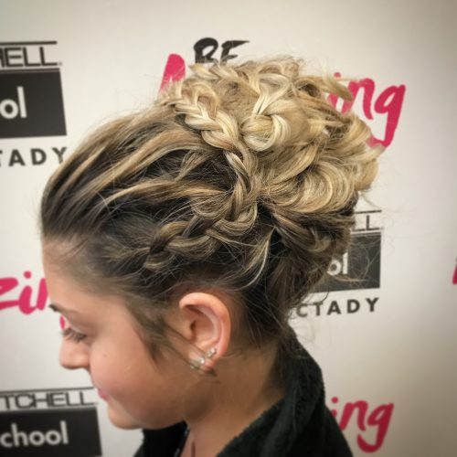Picture of a magnificent braided high bun