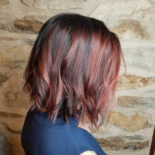 37 Best Red Highlights In 2019 For Brown Blonde Amp Black Hair