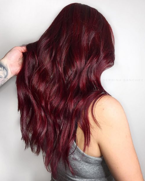 15 Best Maroon Hair Color Ideas Of 2019 Dark Black