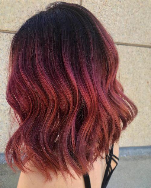 15 Best Maroon Hair Color Ideas Of 2019 Dark Black Ombre Colors