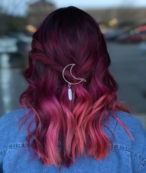 Mesmerizing Maroon Ombre Hair Color