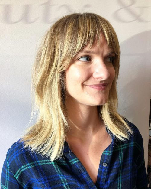 Marvelous Mid Length Bob with Bangs