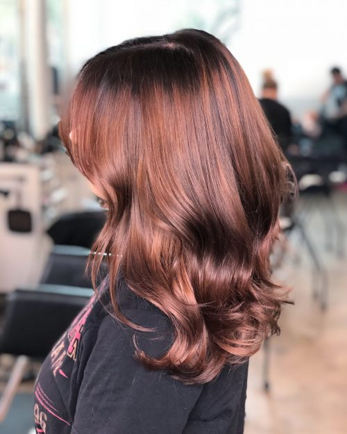Picture of a marvelous shine beautiful hair