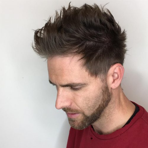 Picture of a masculine texture men's taper fade