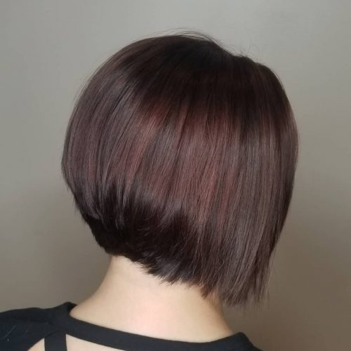 Mauve red chocolate brown hair color