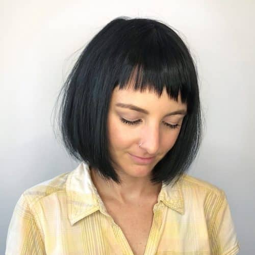 Medium Bob with Micro Bangs