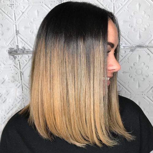 Medium length butterscotch hair