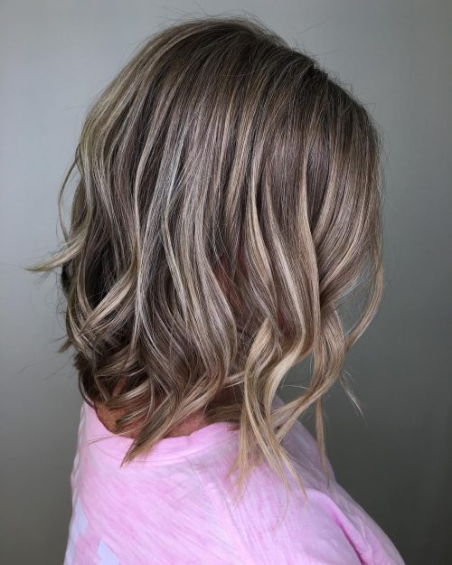 Medium Length Hair with Ash Blonde Highlights