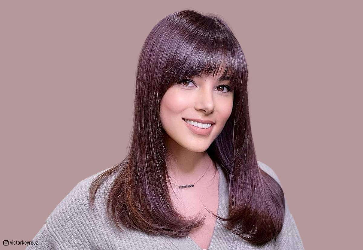 53 Popular Medium Length Hairstyles With Bangs In 2020