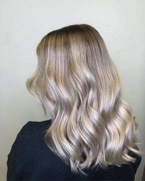 Medium-Long Cool Blonde