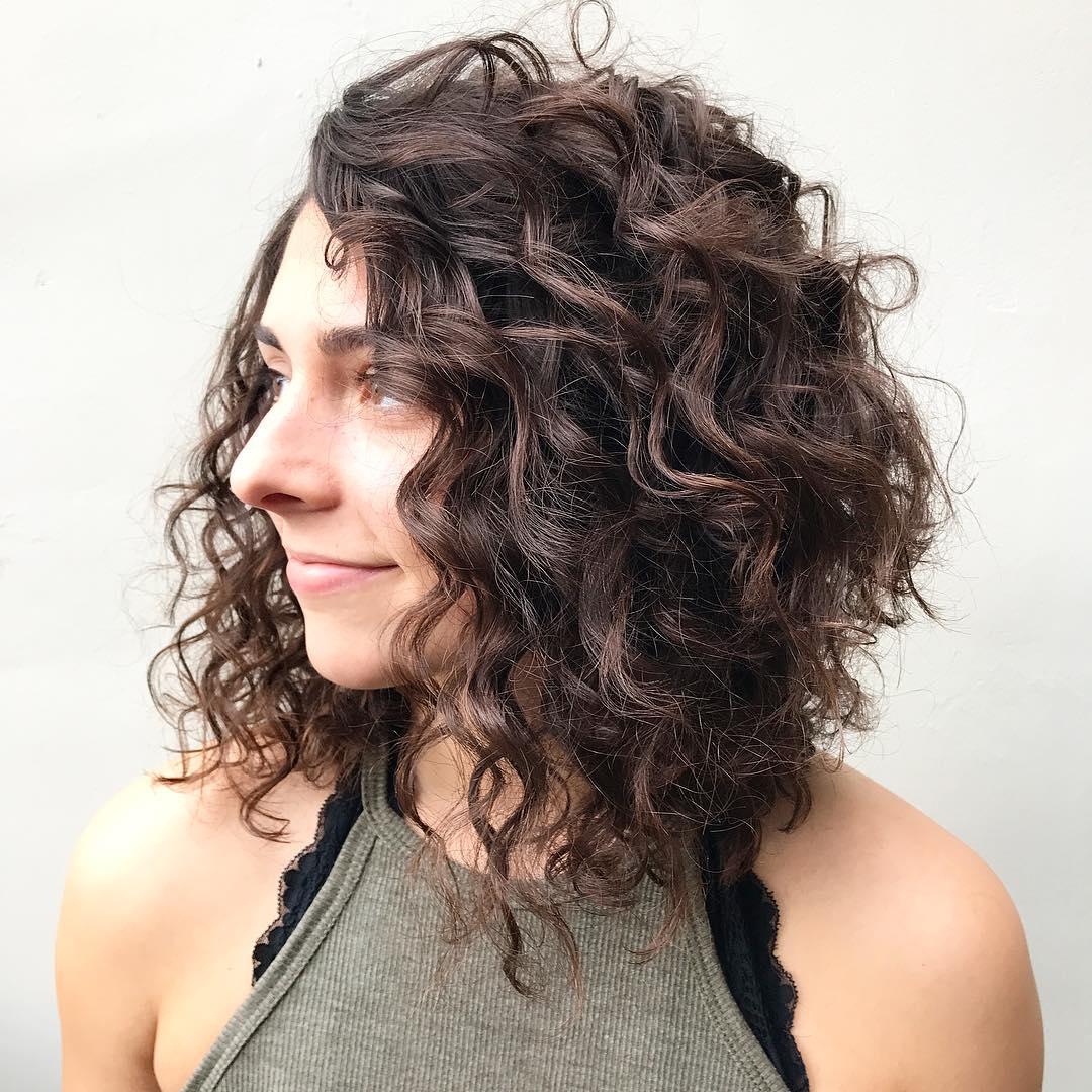 medium-short curly hair