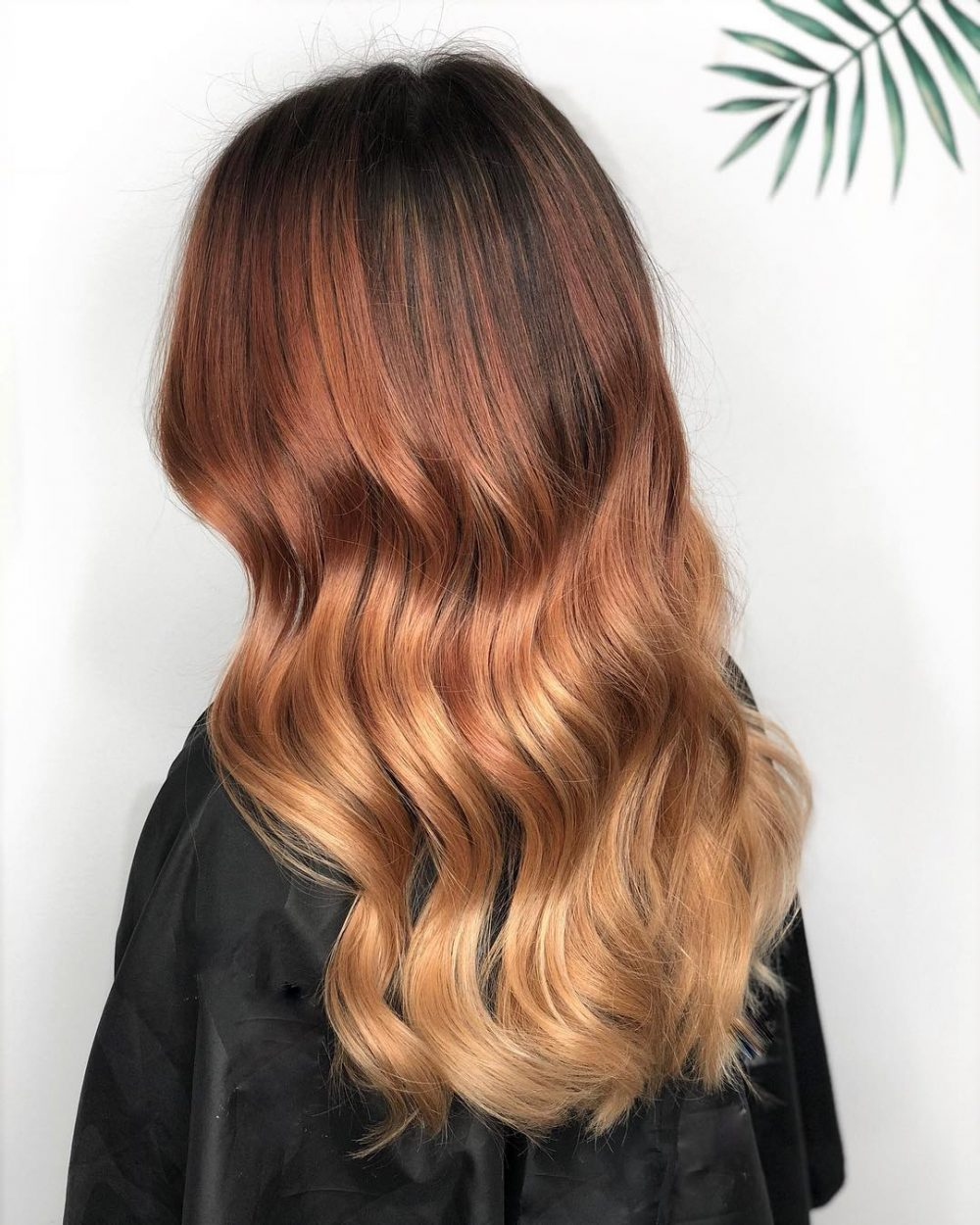 Melted Auburn Waves hairstyle