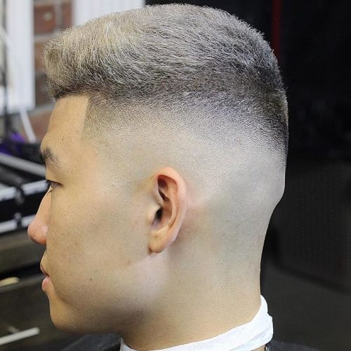 High fade haircut for men with thick hair