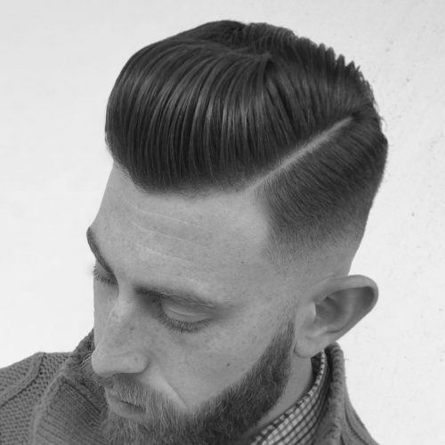 Picture of a men's disconnected undercut for straight hair