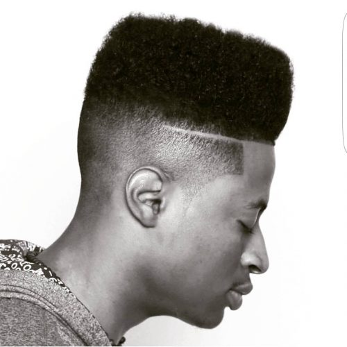 Black men's high top fade