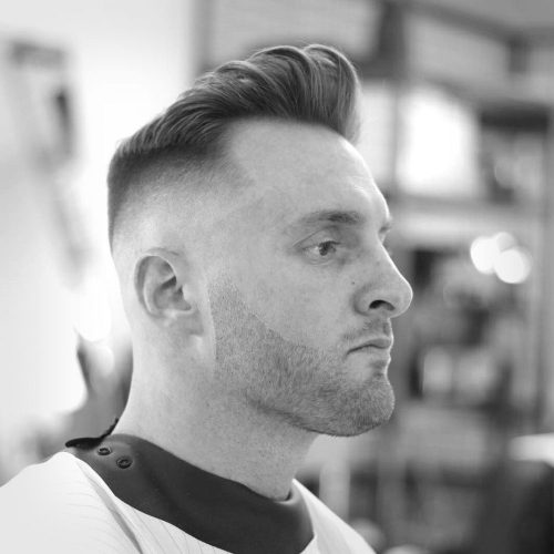An awesome pompadour haircut for men with thin hair