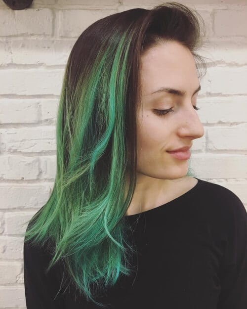 mermaid vibes ombre hair color