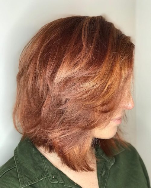 Messy Choppy Layers for Mid-Length Hair