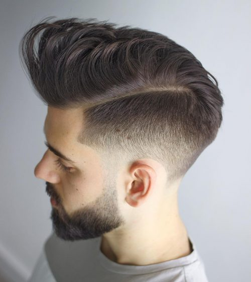 Messy Short Sides Long Top Fade
