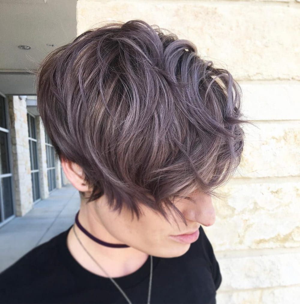 Metallic Pixie For Short Hair