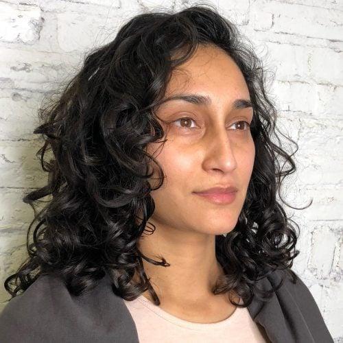 Mid-Length Curly Hair