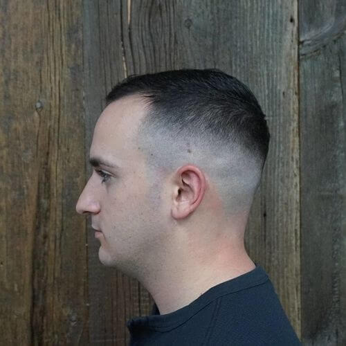 mid skin fade combover