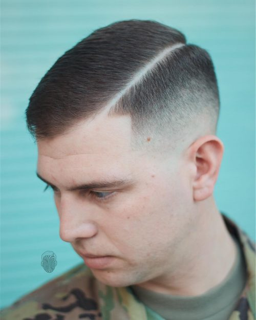 Picture of a disconnected military cut
