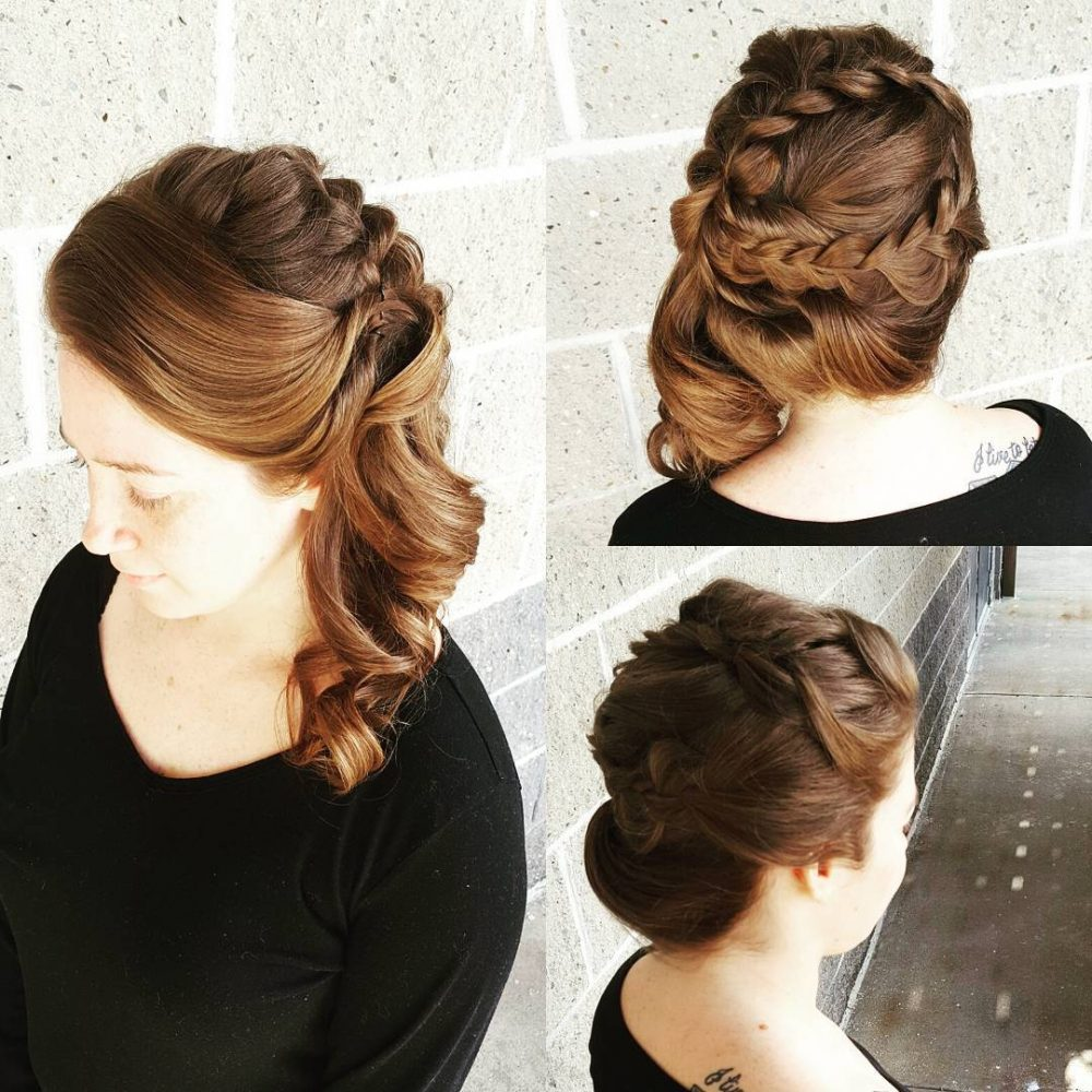 Modern Braided Touch hairstyle