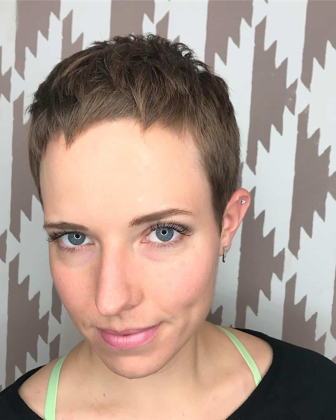 Modern Disconnected Pixie hairstyle
