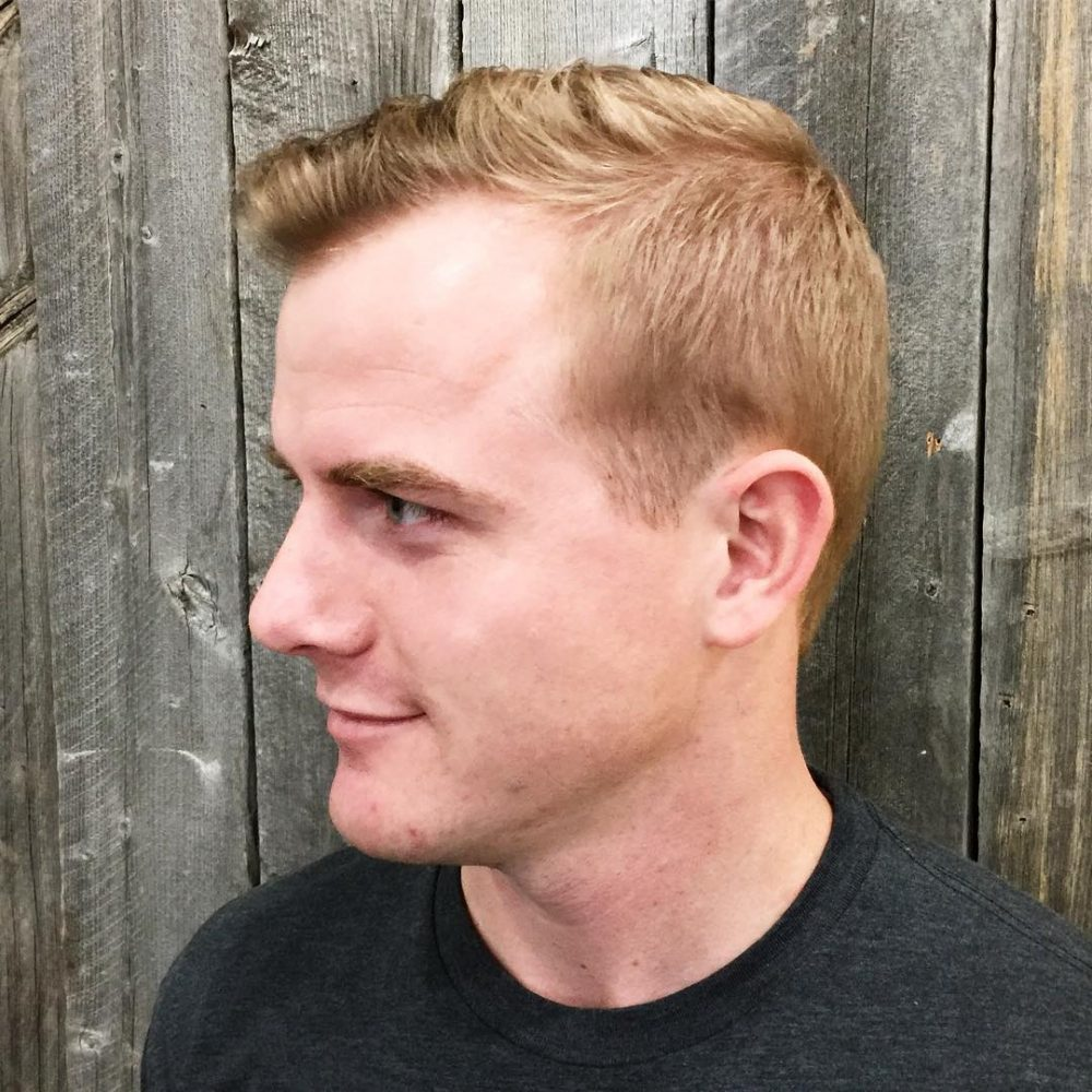 Fresh taper fade short haircut for men receding hairlines and thin hair