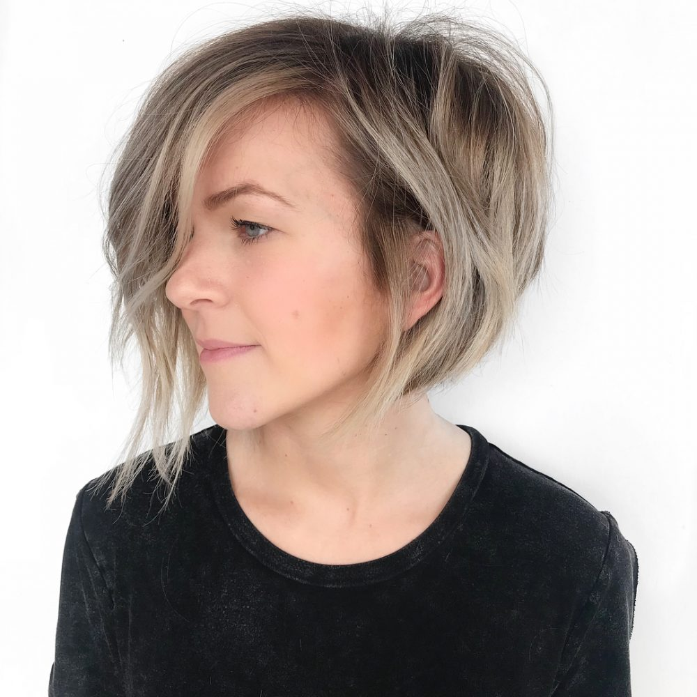 Modern Razored Edge Bob hairstyle