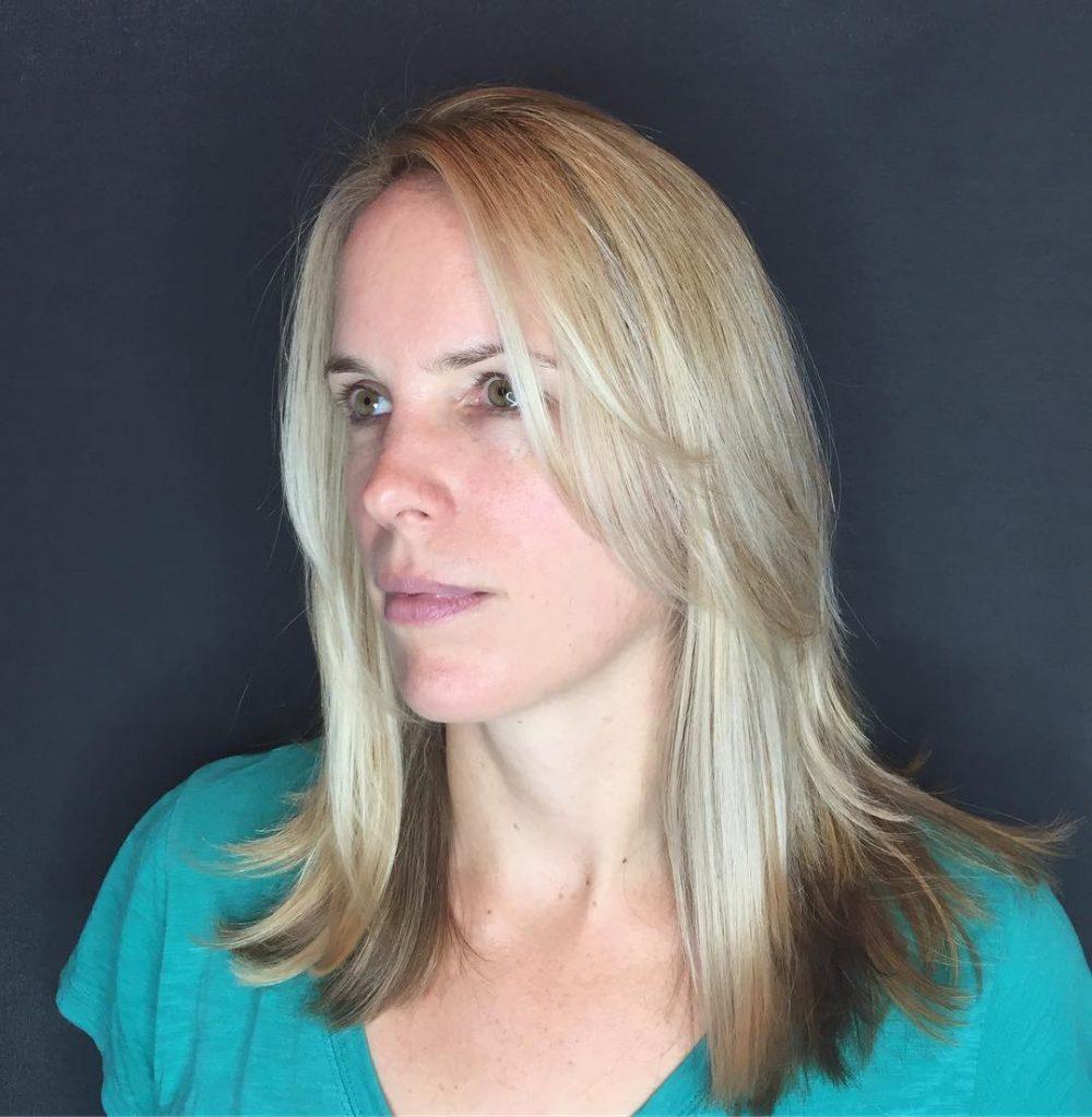 Modern Shag with Side-Swept Fringe hairstyle