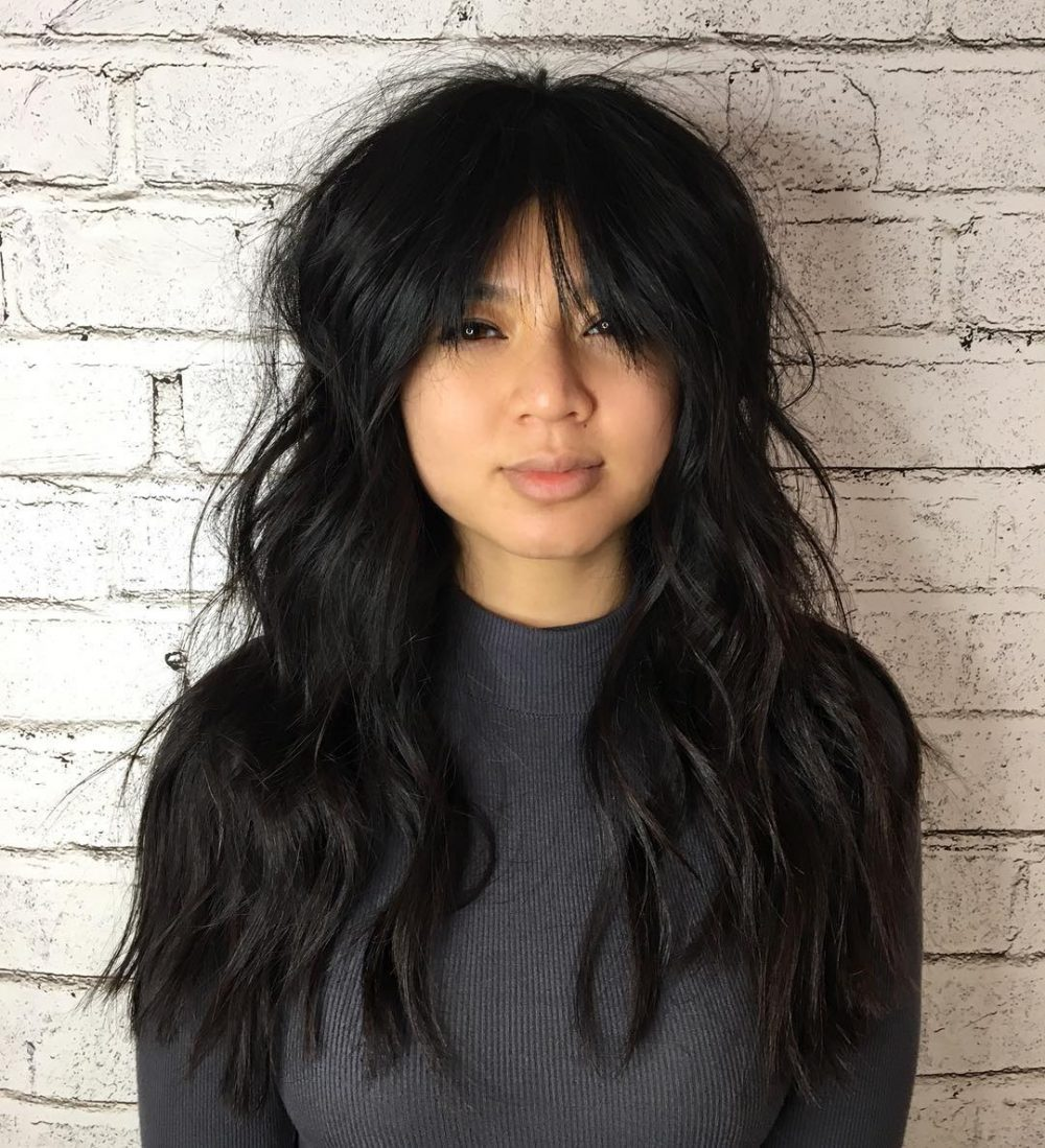 Modern Textured Shag hairstyle