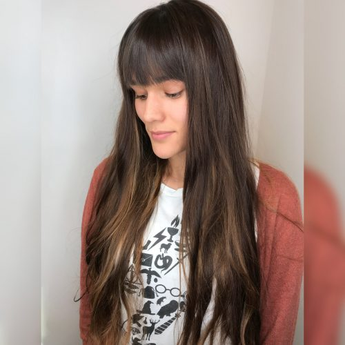 Modern Long Straight Hair With Light Bangs