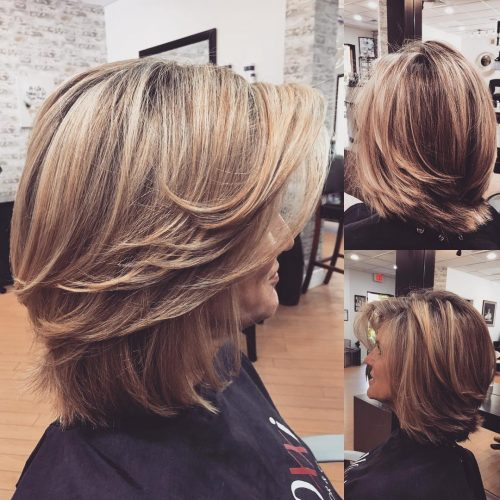 Modern Layered Bob Hairstyle